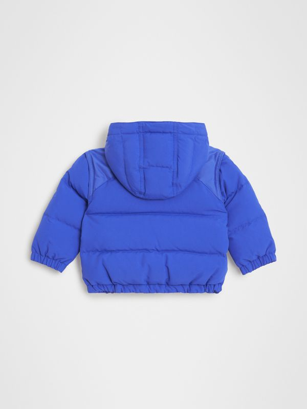 Down-filled Hooded Puffer Jacket in Royal Blue - Children | Burberry - cell image 3