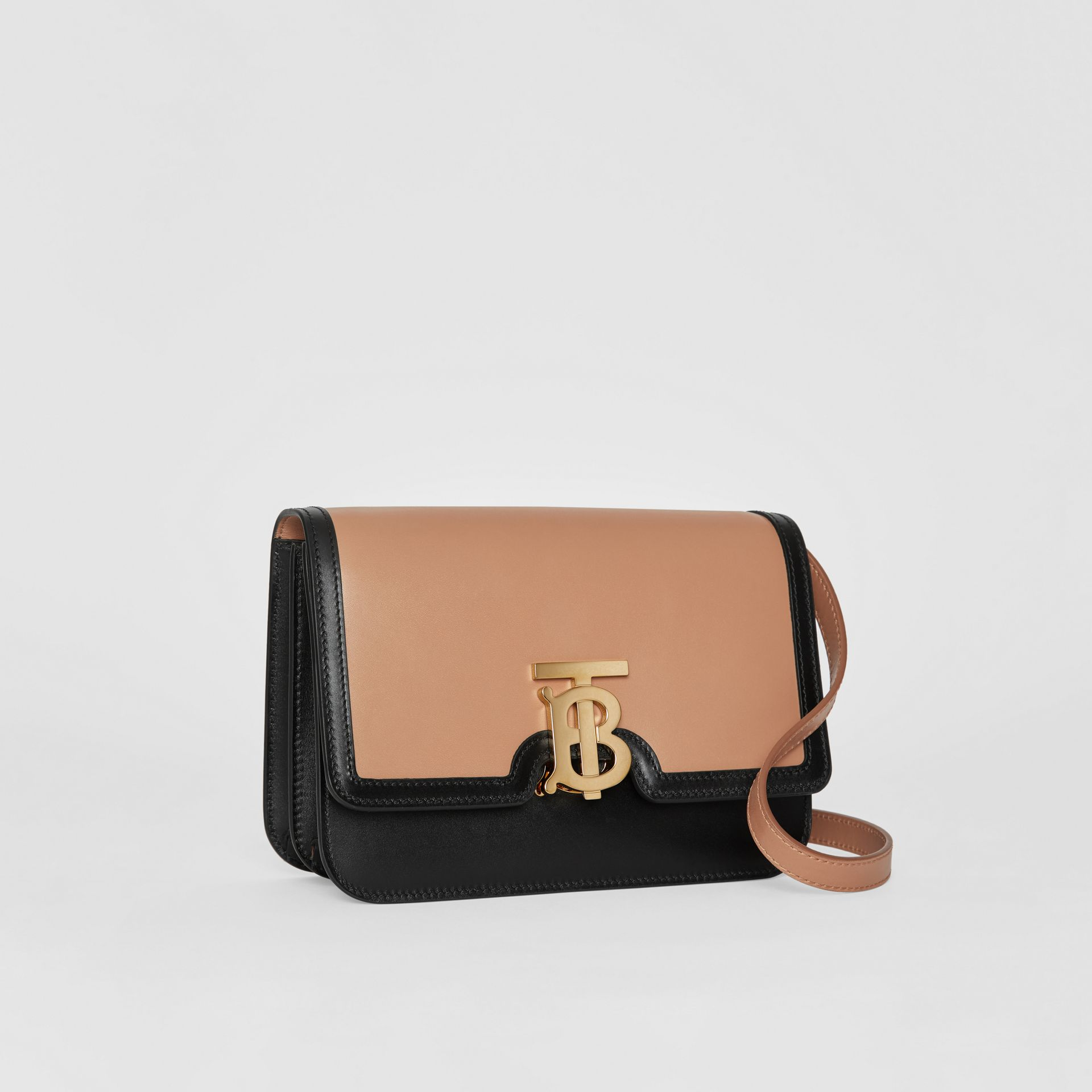 Small Leather TB Bag in Light Camel/black - Women | Burberry United Kingdom - gallery image 6