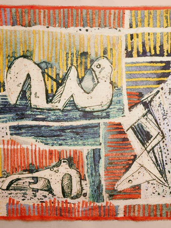 Reclining Figures Print Cotton Square – Large - cell image 3