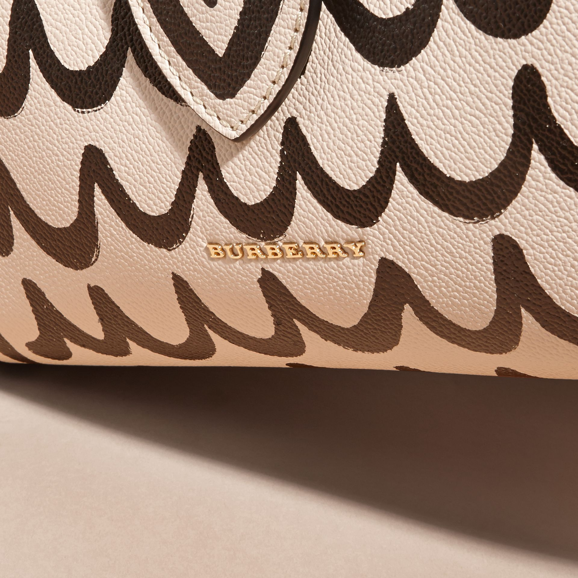 The Medium Buckle Tote in Trompe L'oeil Print Leather - gallery image 2