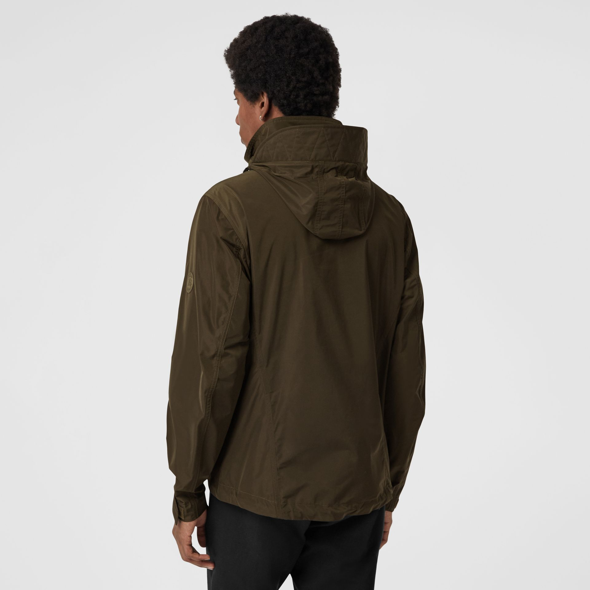 Packaway Hood Shape-memory Taffeta Jacket in Oregano - Men | Burberry - gallery image 2