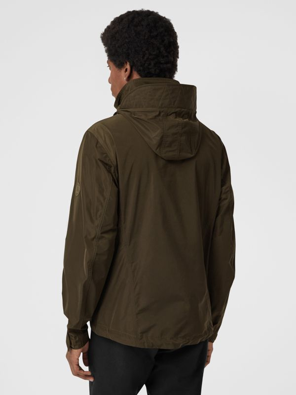 Packaway Hood Shape-memory Taffeta Jacket in Oregano - Men | Burberry Australia - cell image 2