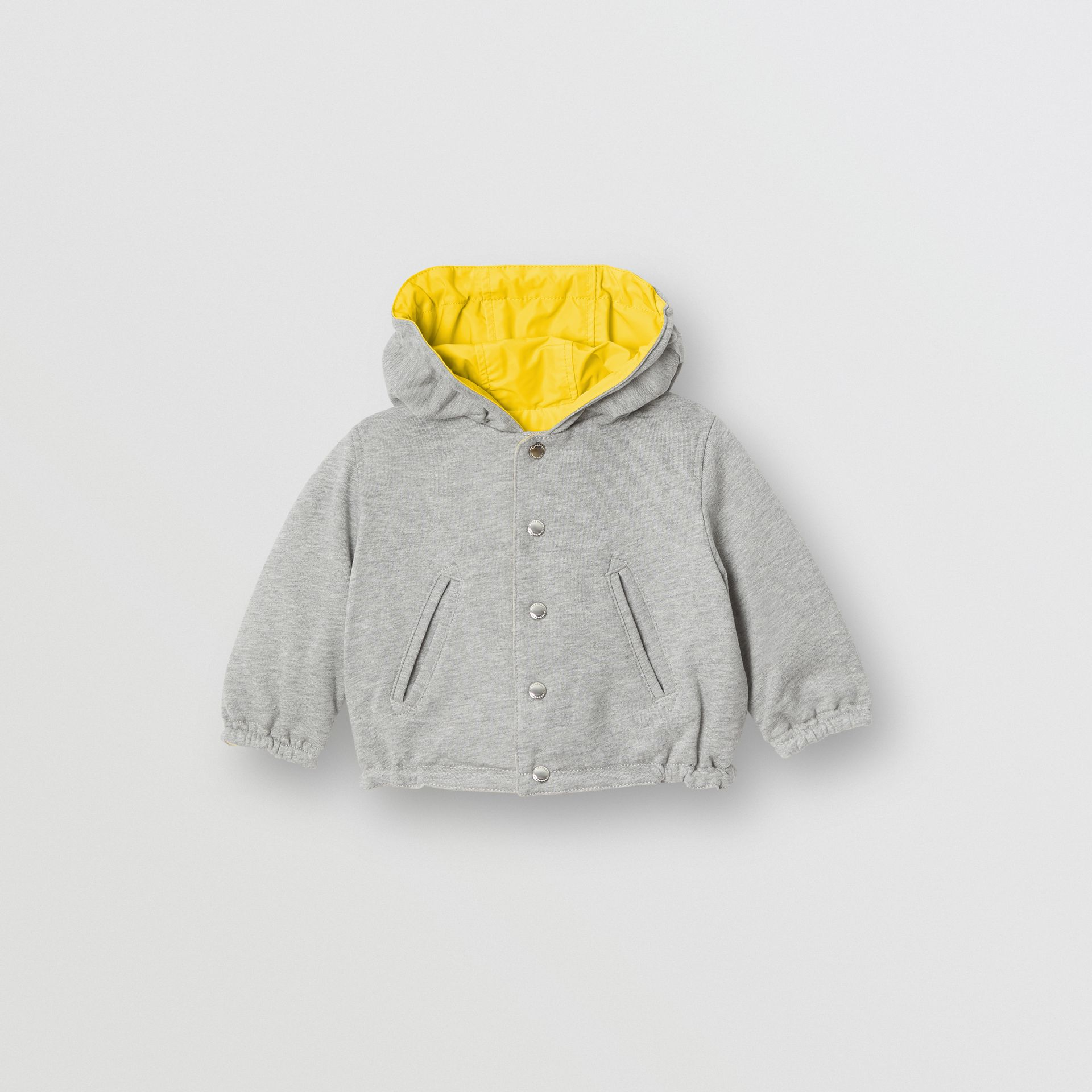 Reversible Logo Print Hooded Jacket in Bright Yellow - Children | Burberry - gallery image 3