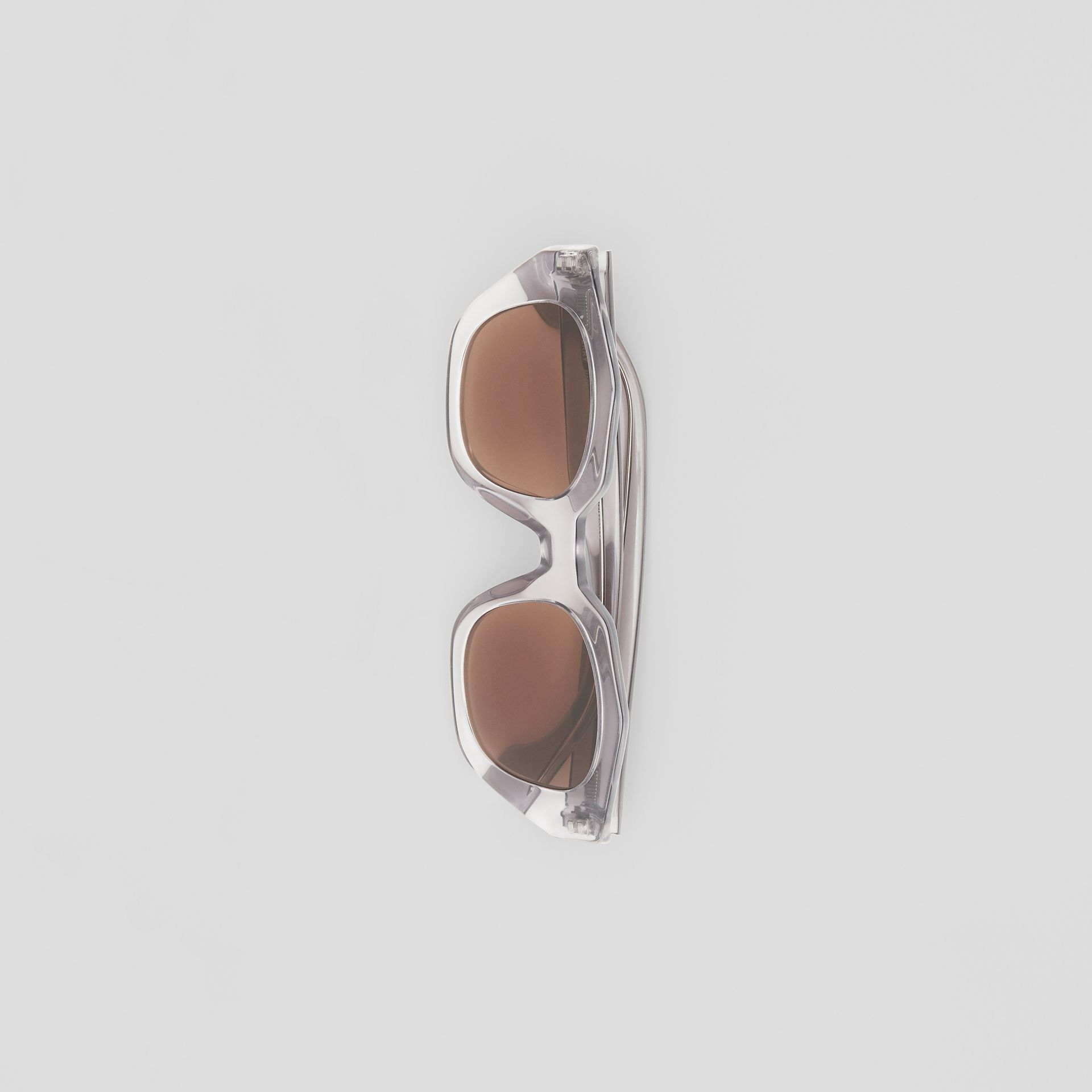 Geometric Frame Sunglasses in Grey - Women | Burberry United Kingdom - gallery image 3