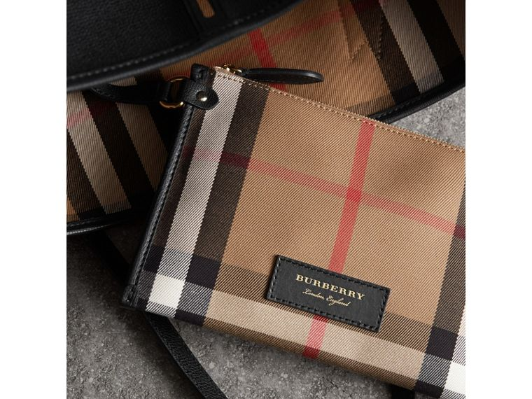 Medium Grainy Leather Tote Bag in Black - Women | Burberry Canada - cell image 4