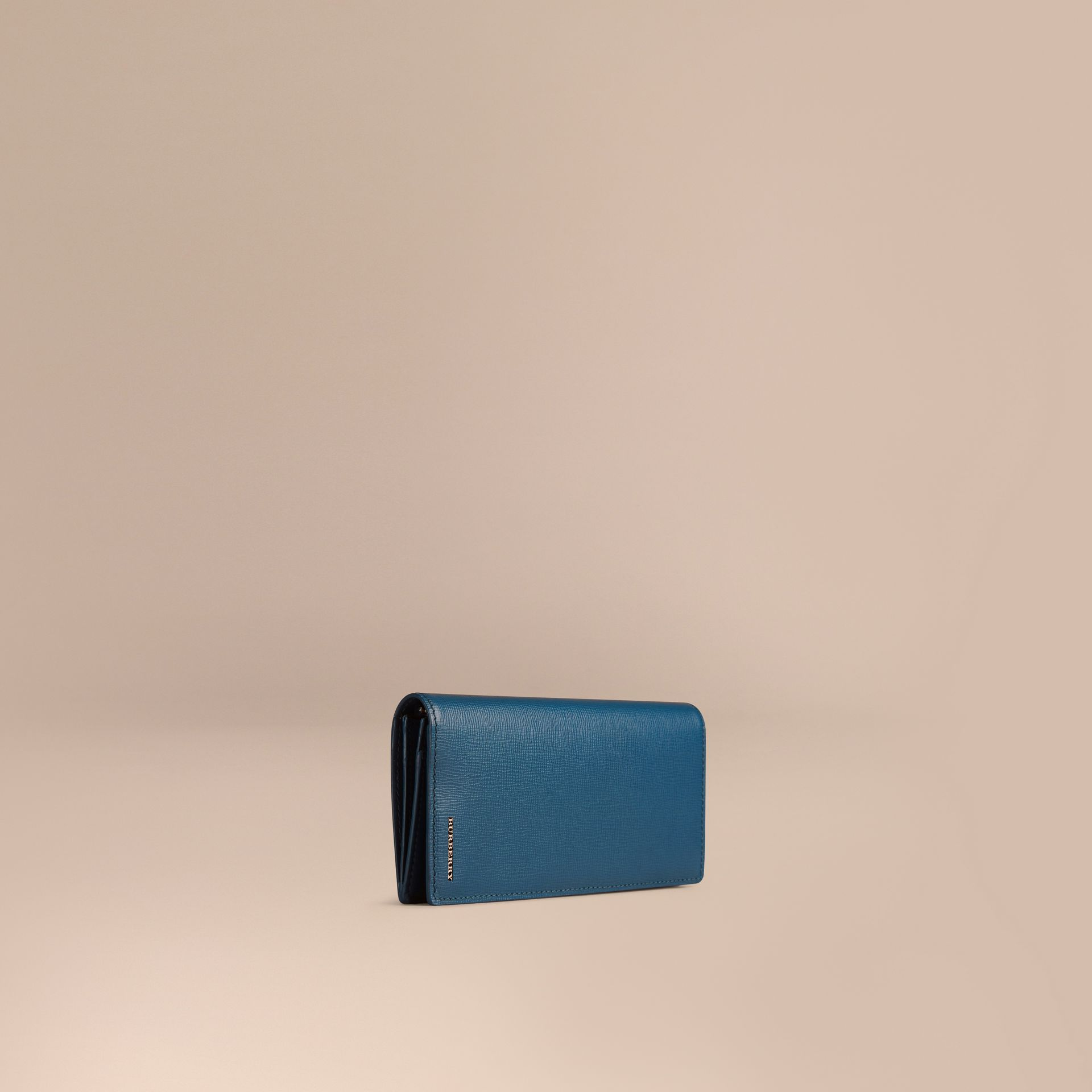 Mineral blue London Leather Continental Wallet Mineral Blue - gallery image 1