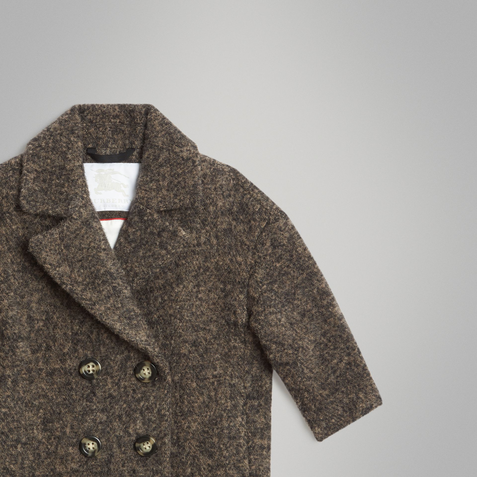 Wool Alpaca Blend Tailored Coat in Brown | Burberry Singapore - gallery image 4