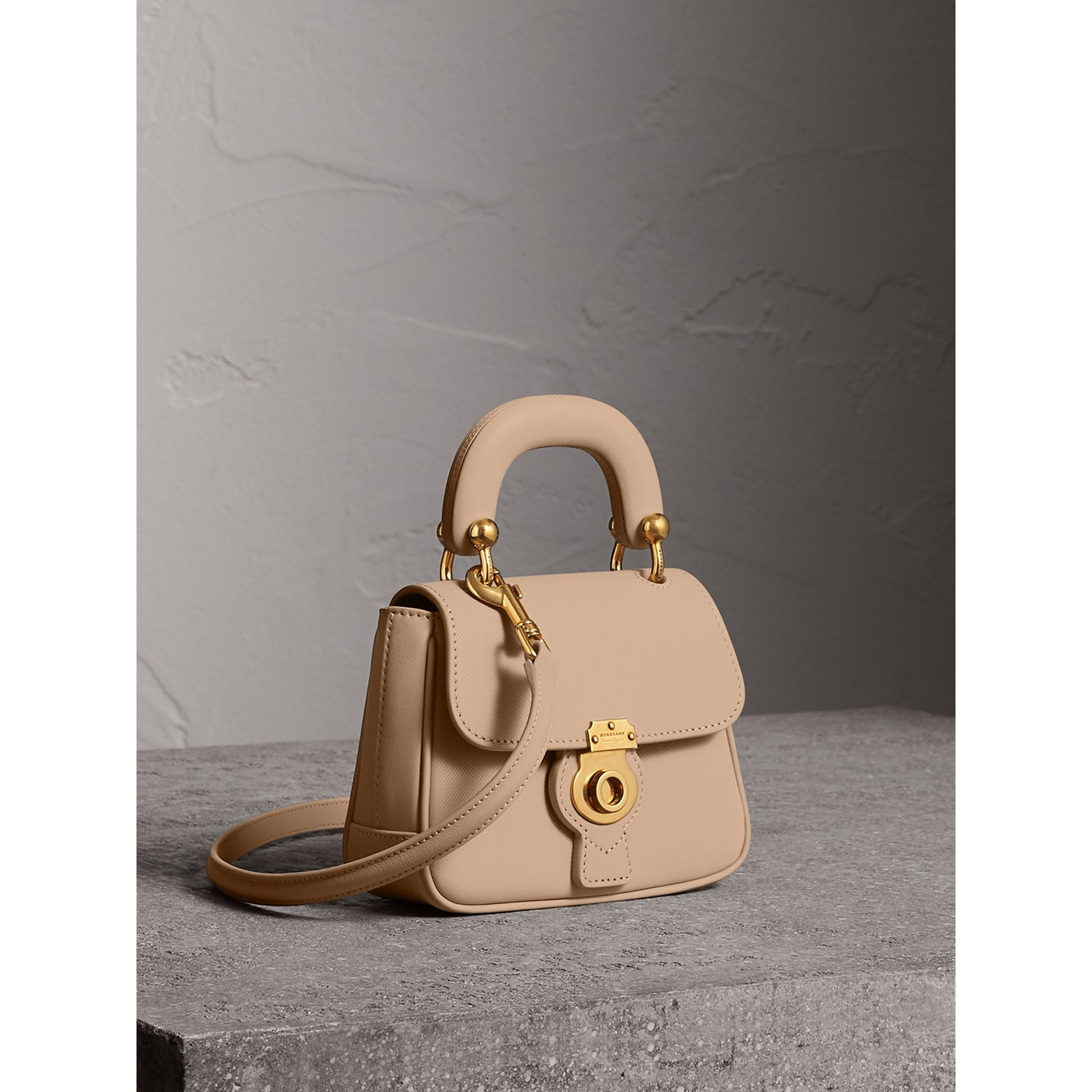 The Mini DK88 Top Handle Bag in Honey - Women | Burberry United Kingdom - gallery image 7