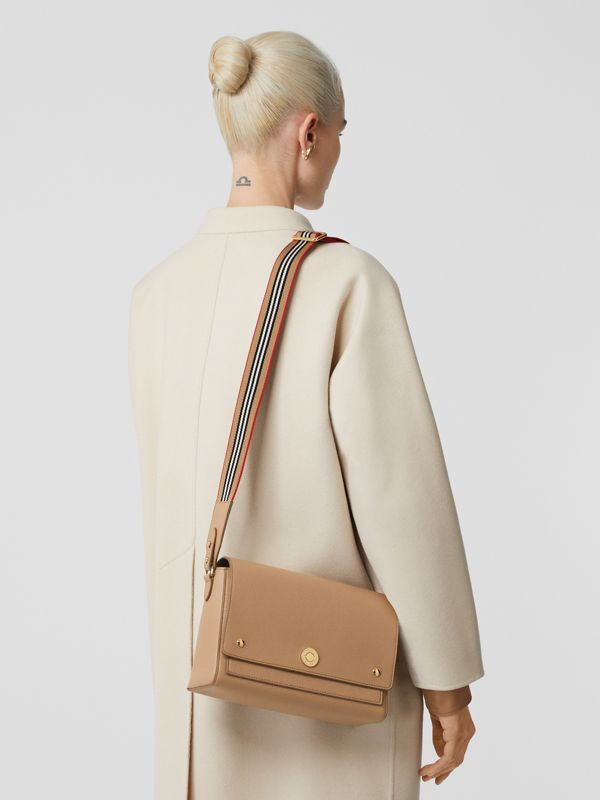 Grainy Leather Note Crossbody Bag in Camel - Women | Burberry - cell image 2
