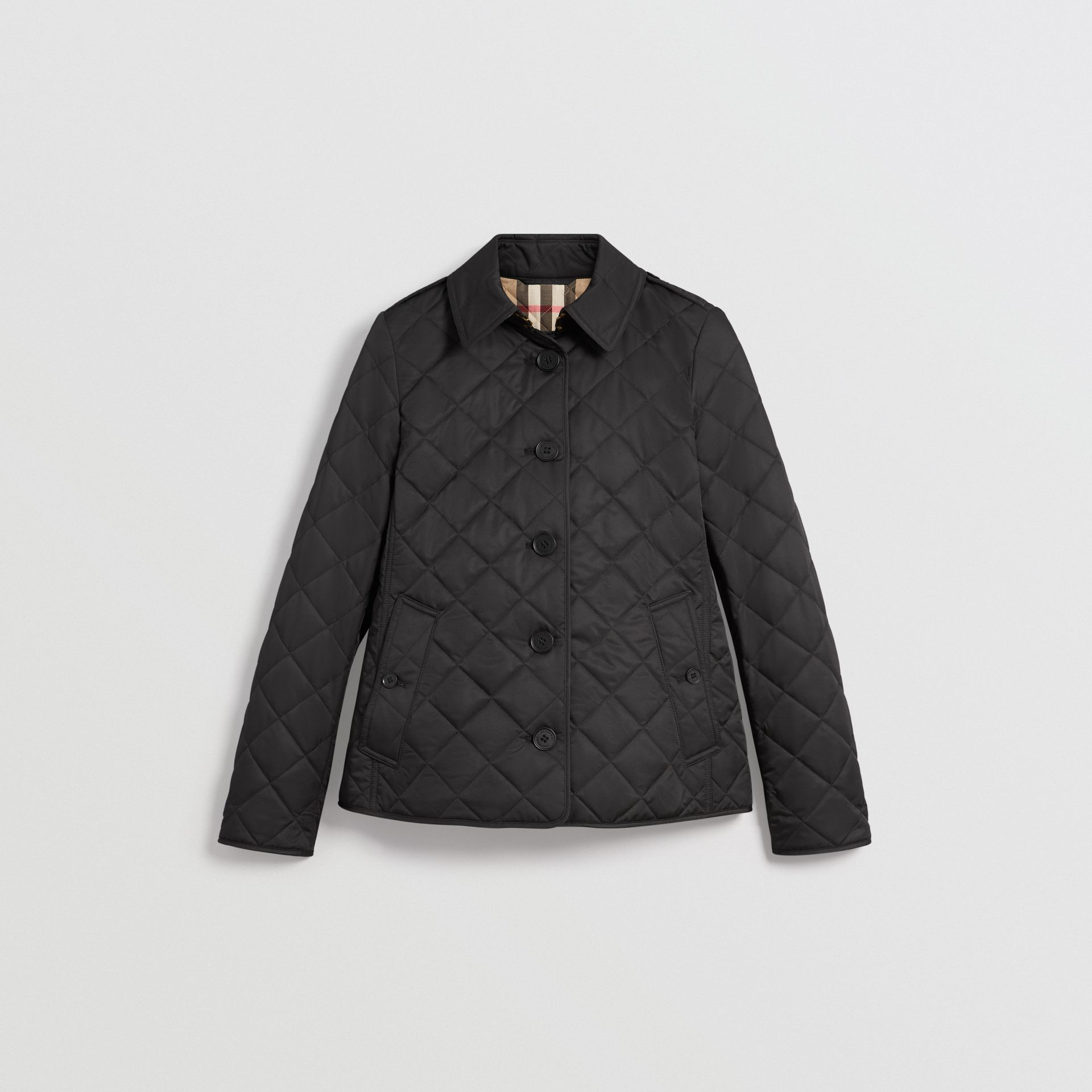 Diamond Quilted Jacket in Black - Women | Burberry United Kingdom - gallery image 3
