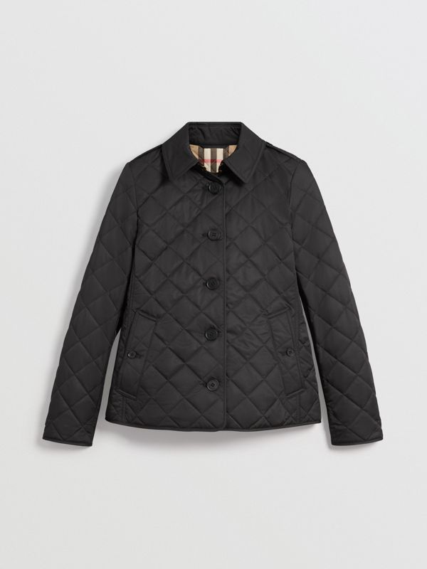 Diamond Quilted Jacket in Black - Women | Burberry United States - cell image 3