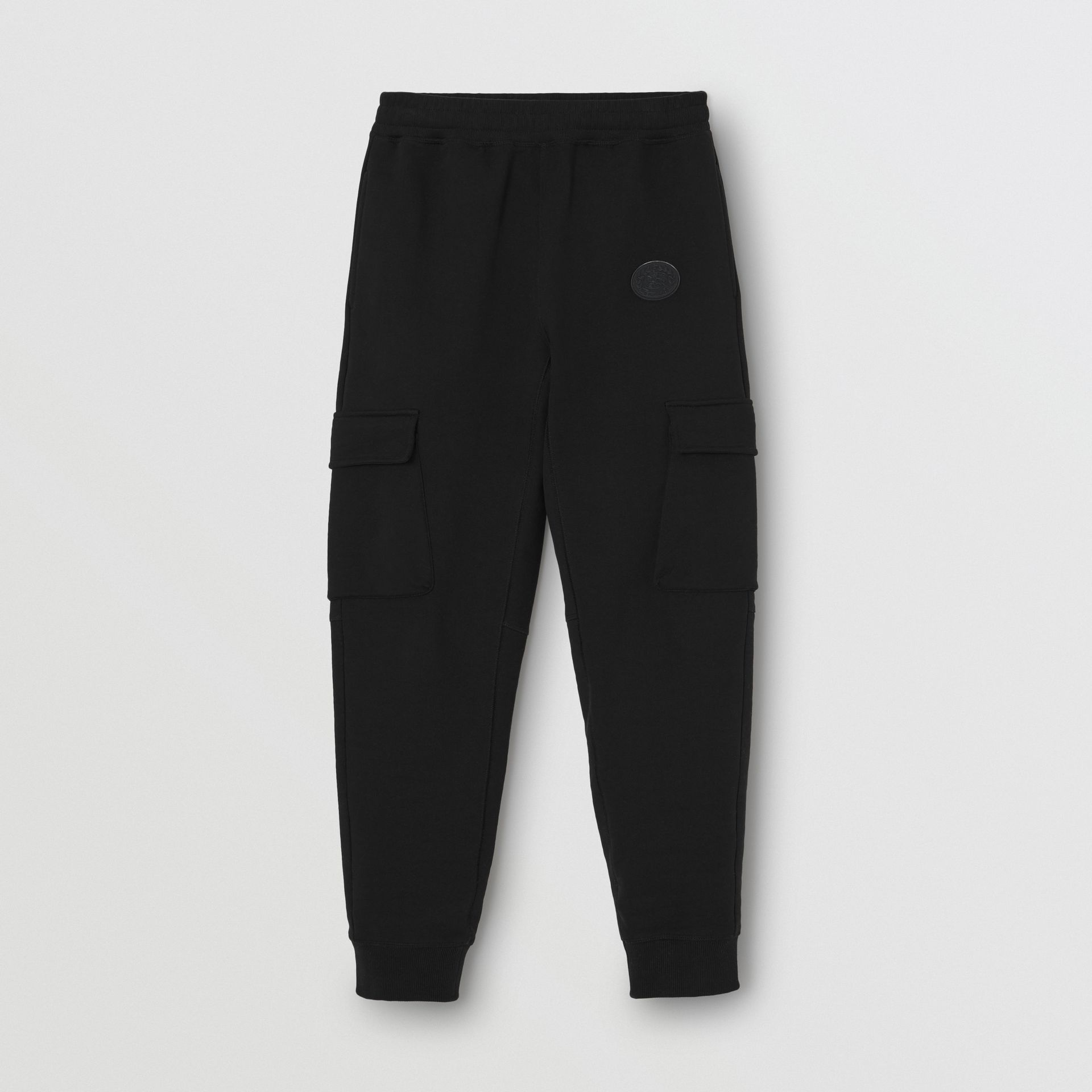 Pocket Detail Cotton Jersey Trackpants in Black - Women | Burberry - gallery image 3