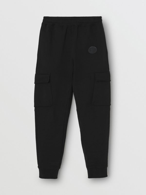 Pocket Detail Cotton Jersey Trackpants in Black - Women | Burberry United Kingdom - cell image 3