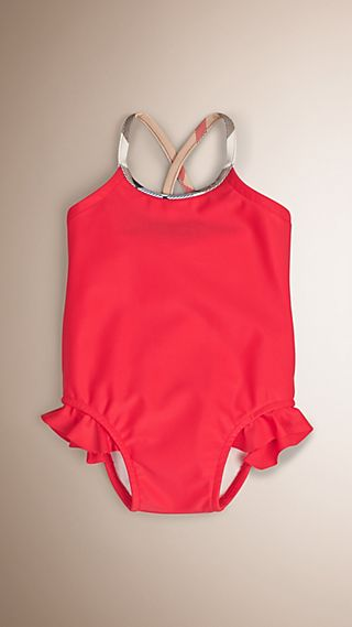 Check Detail One-piece Swimsuit
