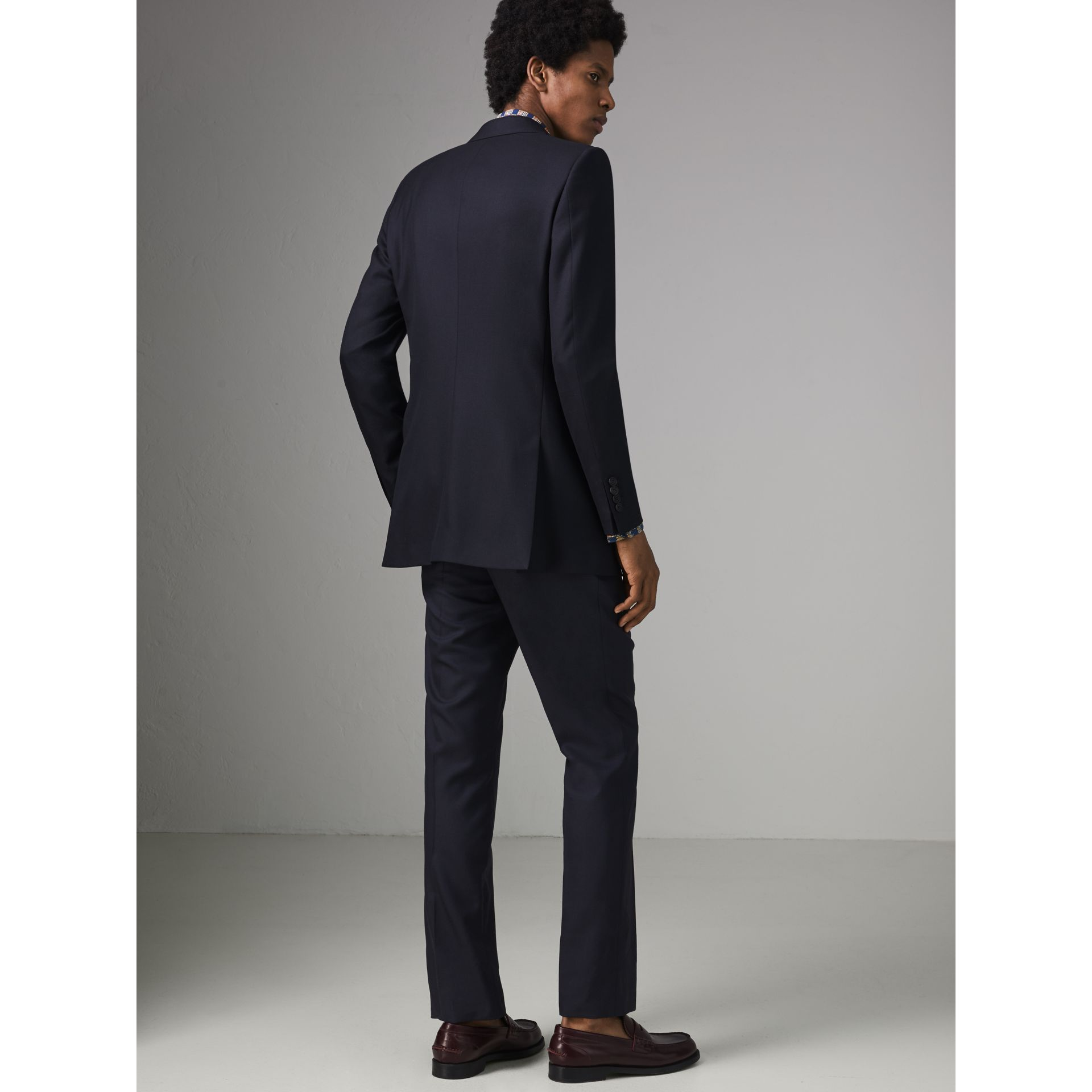 Slim Fit Wool Twill Suit in Navy - Men | Burberry Australia - gallery image 2