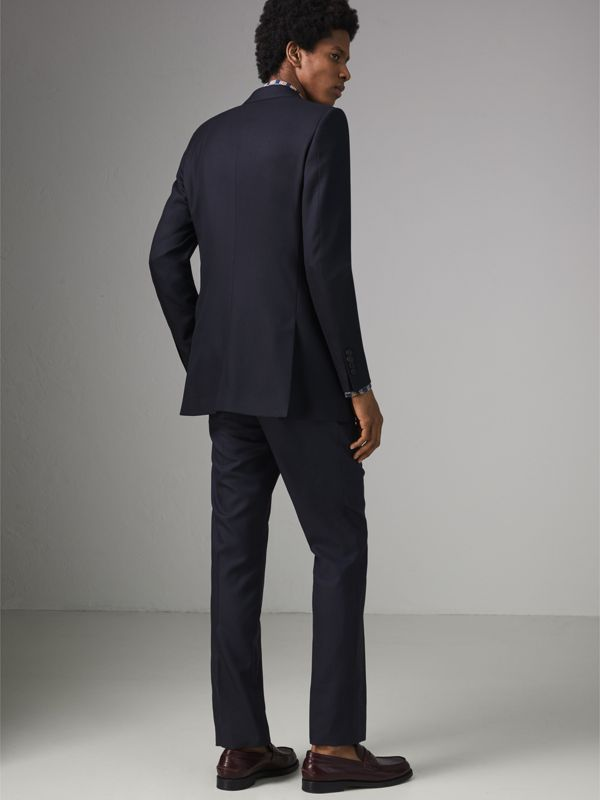 Slim Fit Wool Twill Suit in Navy - Men | Burberry Australia - cell image 2