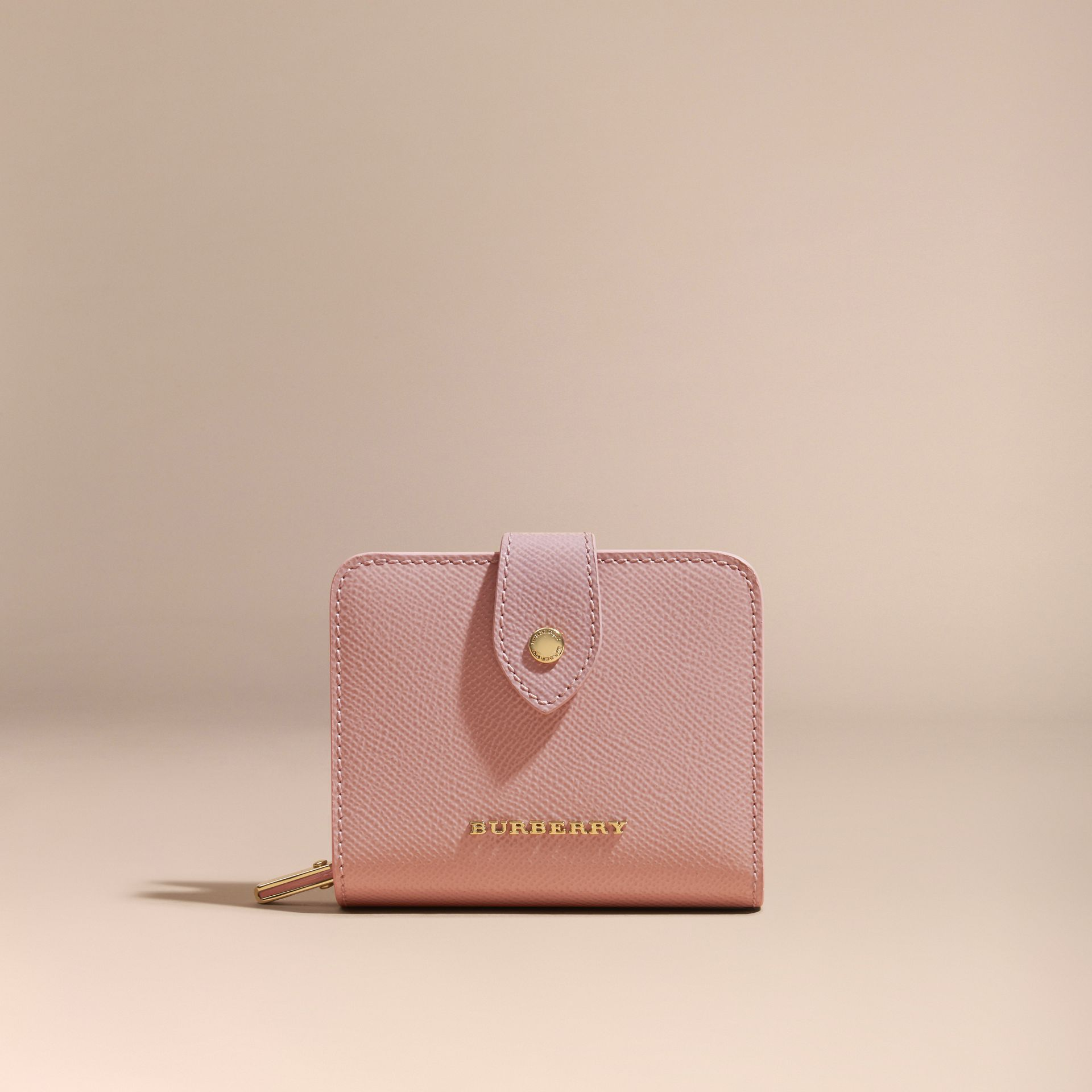 Patent London Leather Wallet in Ash Rose - gallery image 6