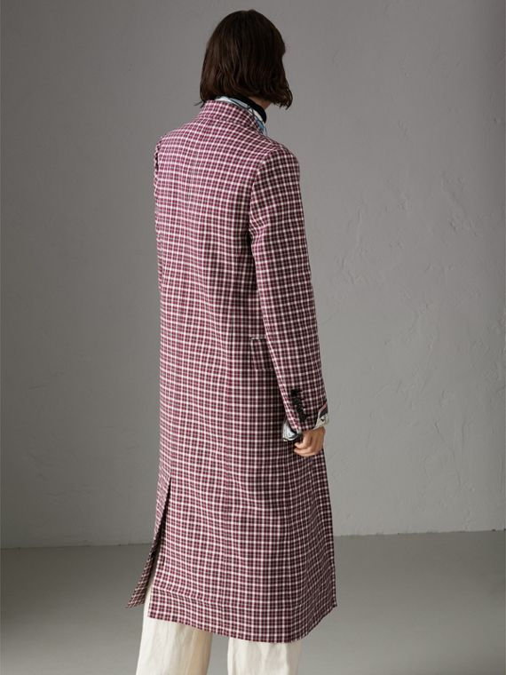 Double-faced Cotton Twill Tailored Coat in Burgundy - Women | Burberry Hong Kong - cell image 2