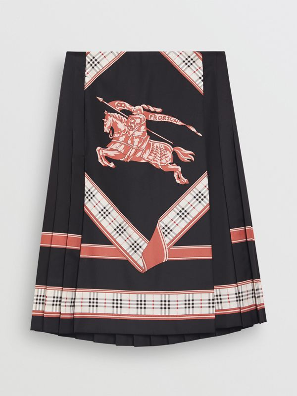 Archive Scarf Print Kilt in Multicolour - Women | Burberry - cell image 2