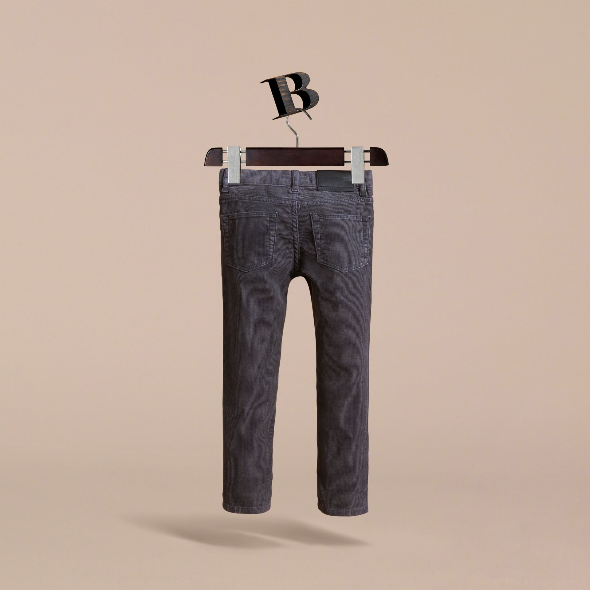 Skinny Fit Stretch Cord Trousers in Dark Grey - Boy | Burberry - gallery image 4