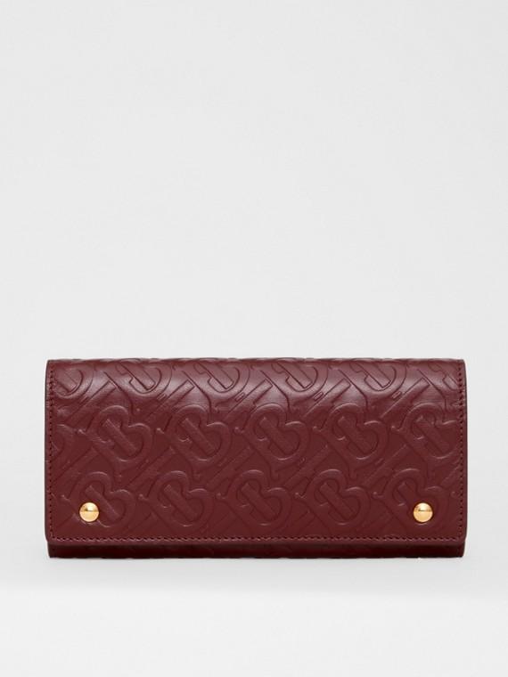 Классический бумажник с монограммой Burberry (Темно-красный)