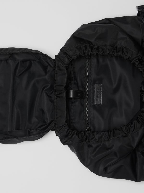 Logo Print Nylon Backpack in Black - Women | Burberry Australia - cell image 3