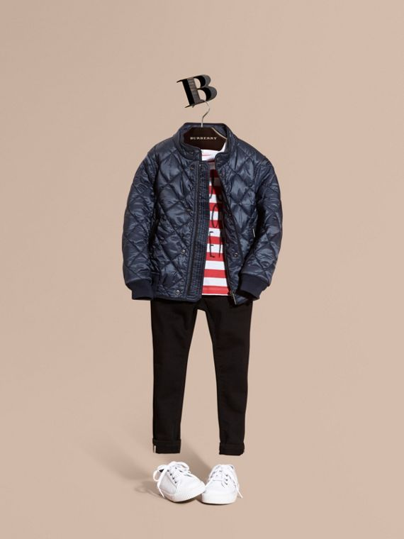 Lightweight Quilted Bomber Jacket - Boy | Burberry Singapore