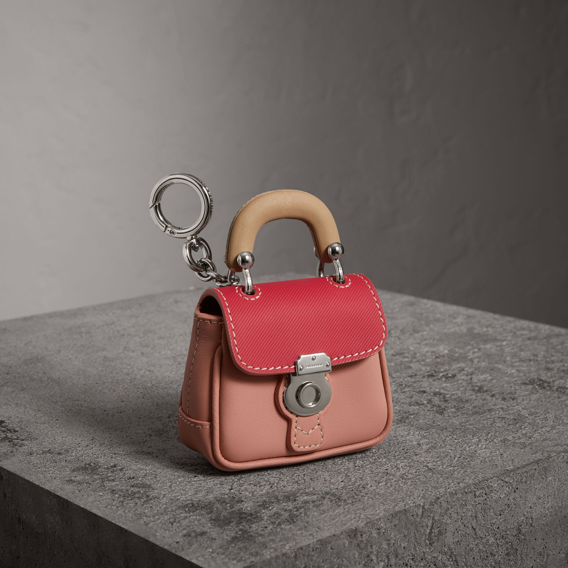 The DK88 Charm in Ash Rose/ Bright Russet | Burberry United Kingdom - gallery image 0
