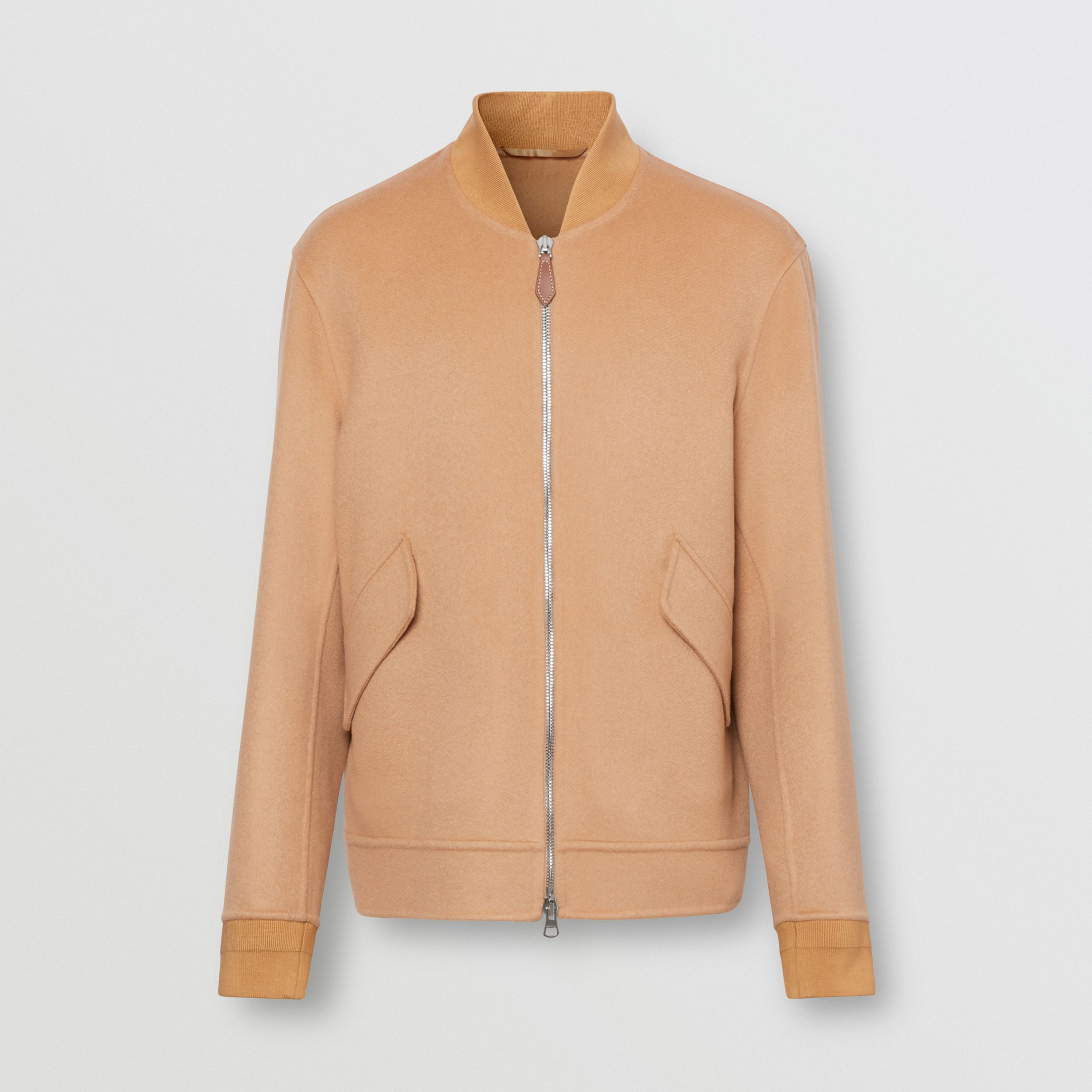 Double-faced Cashmere Bomber Jacket in Dark Camel - Men | Burberry - 4