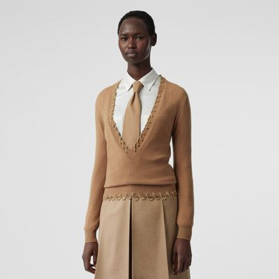 Chain Detail Cashmere Sweater by Burberry