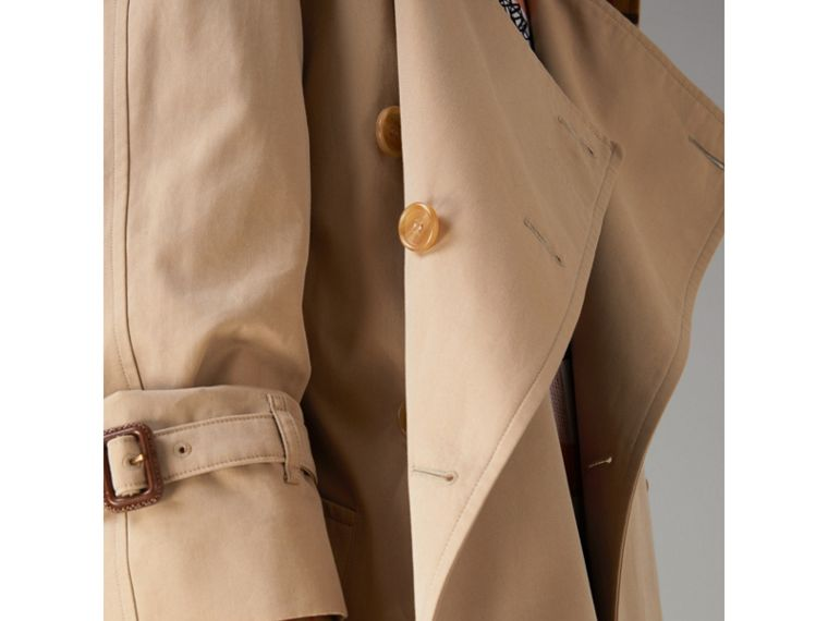 Exaggerated Collar Cotton Gabardine Trench Coat in Honey - Women | Burberry United Kingdom - cell image 1