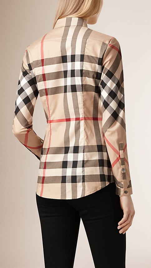 New classic check Stretch-Cotton Check Shirt - Image 2