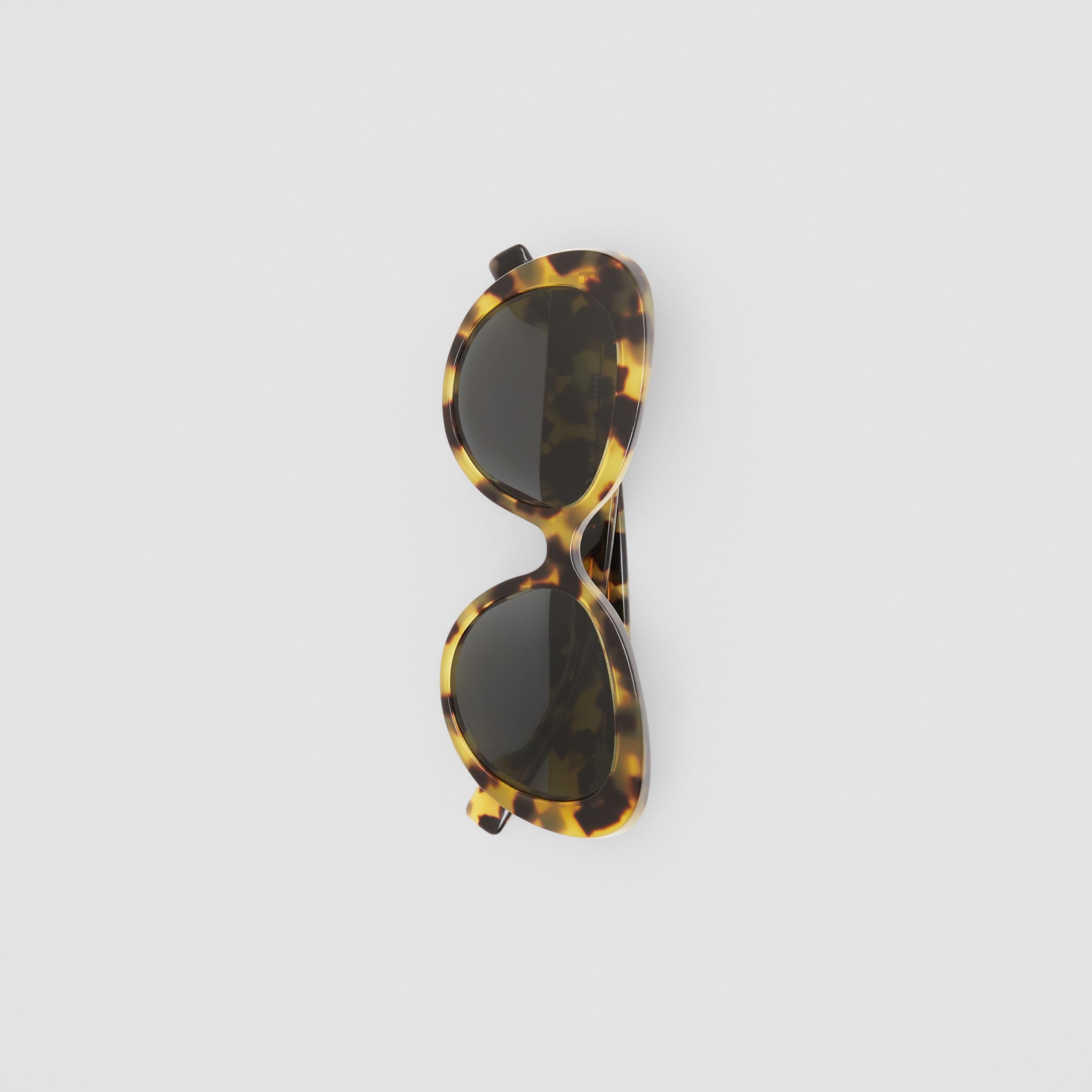 Monogram Motif Cat-eye Frame Sunglasses in Bright Tortoiseshell - Women | Burberry - 4