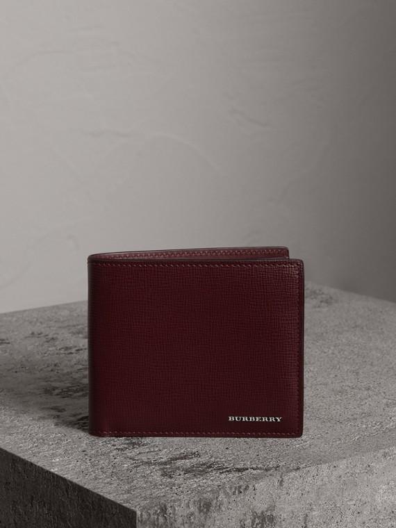London Leather International Bifold Wallet in Burgundy Red