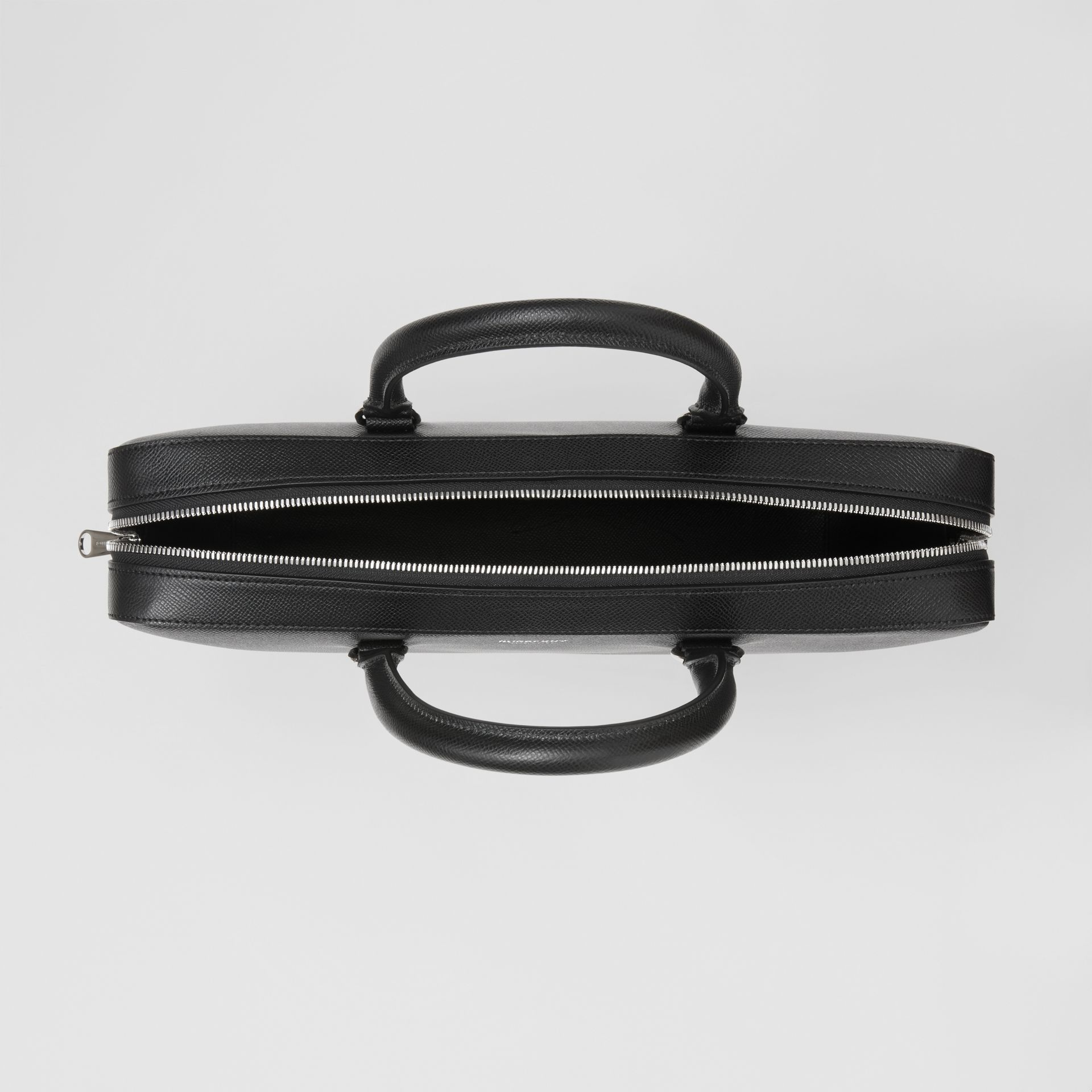 Attaché-case en cuir grainé (Noir) - Homme | Burberry Canada - photo de la galerie 4