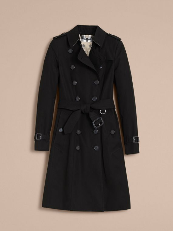 The Chelsea – Long Heritage Trench Coat Black - cell image 3