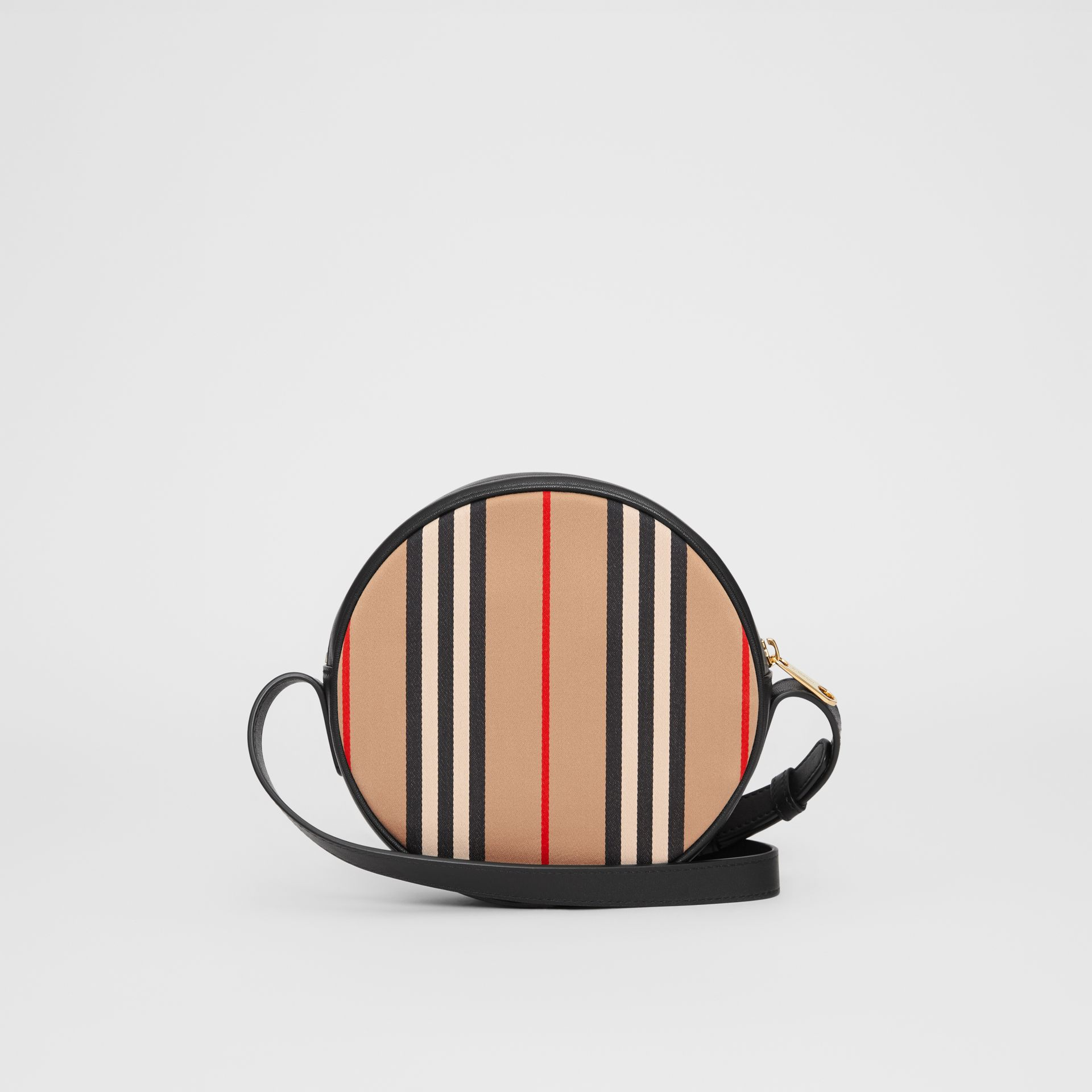 Icon Stripe Cotton Crossbody Bag in Honey/black - Children | Burberry - gallery image 5