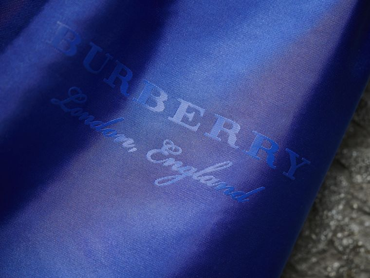 Ruched Showerproof Jacket in Sapphire Blue - Women | Burberry - cell image 1