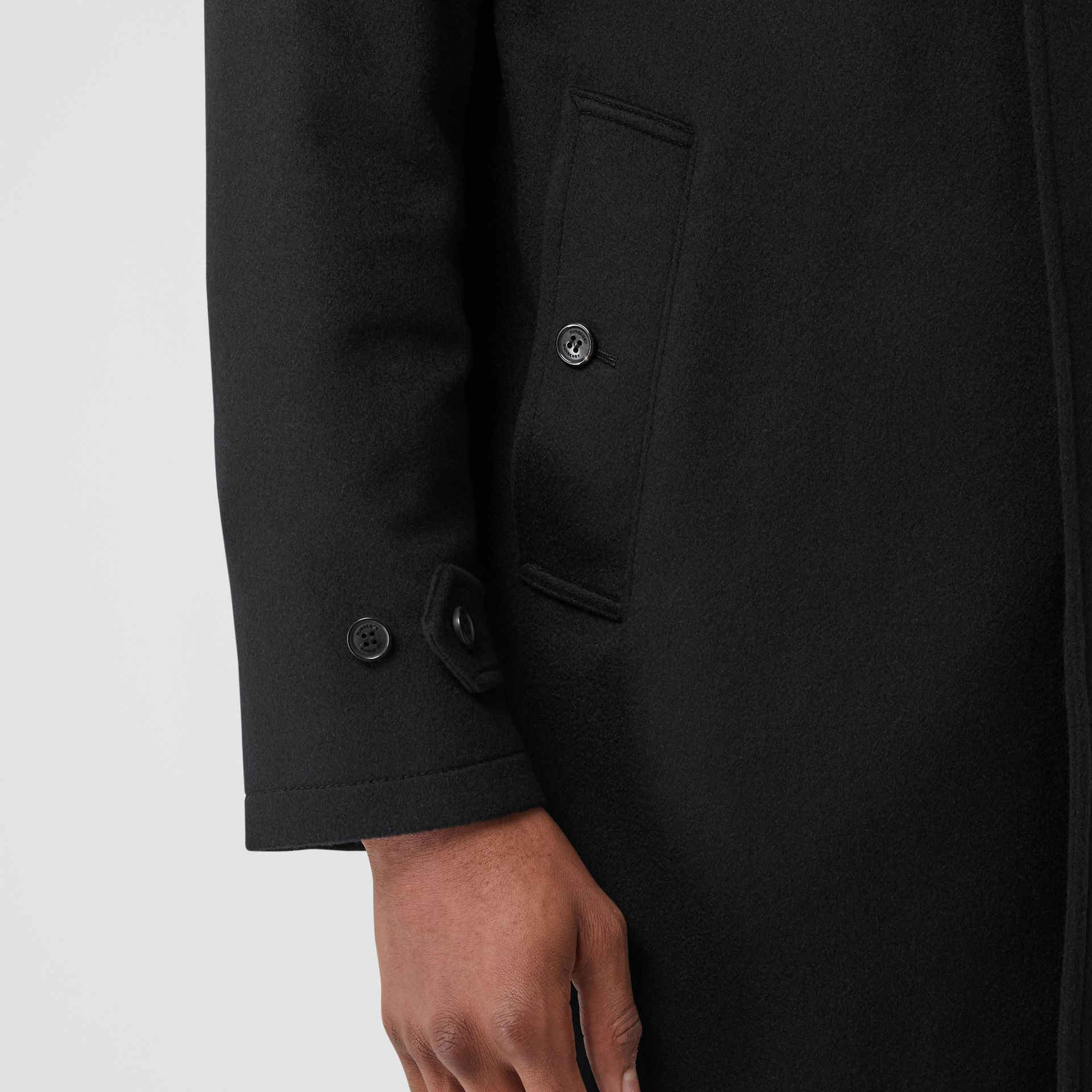 Cashmere Car Coat in Black - Men | Burberry - gallery image 4