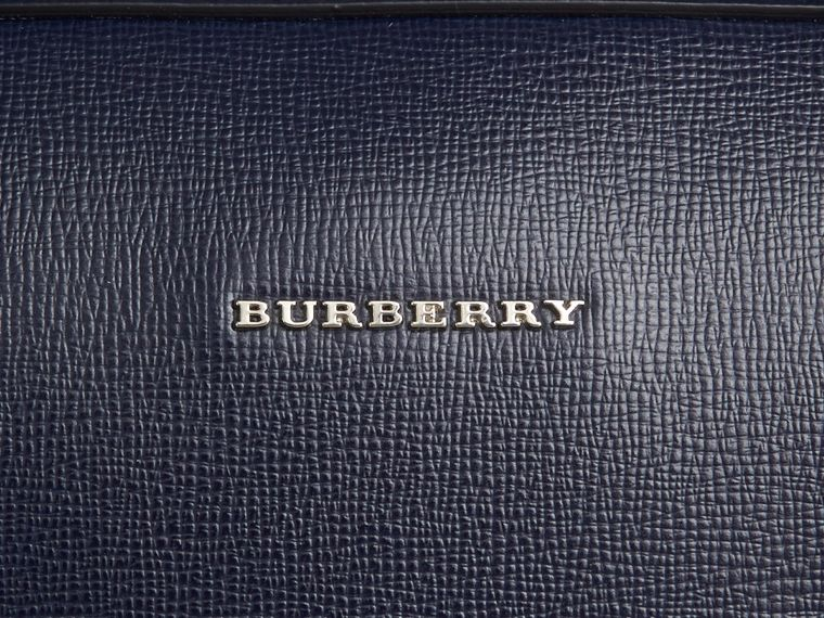 London Leather Briefcase in Dark Navy - Men | Burberry Canada - cell image 1