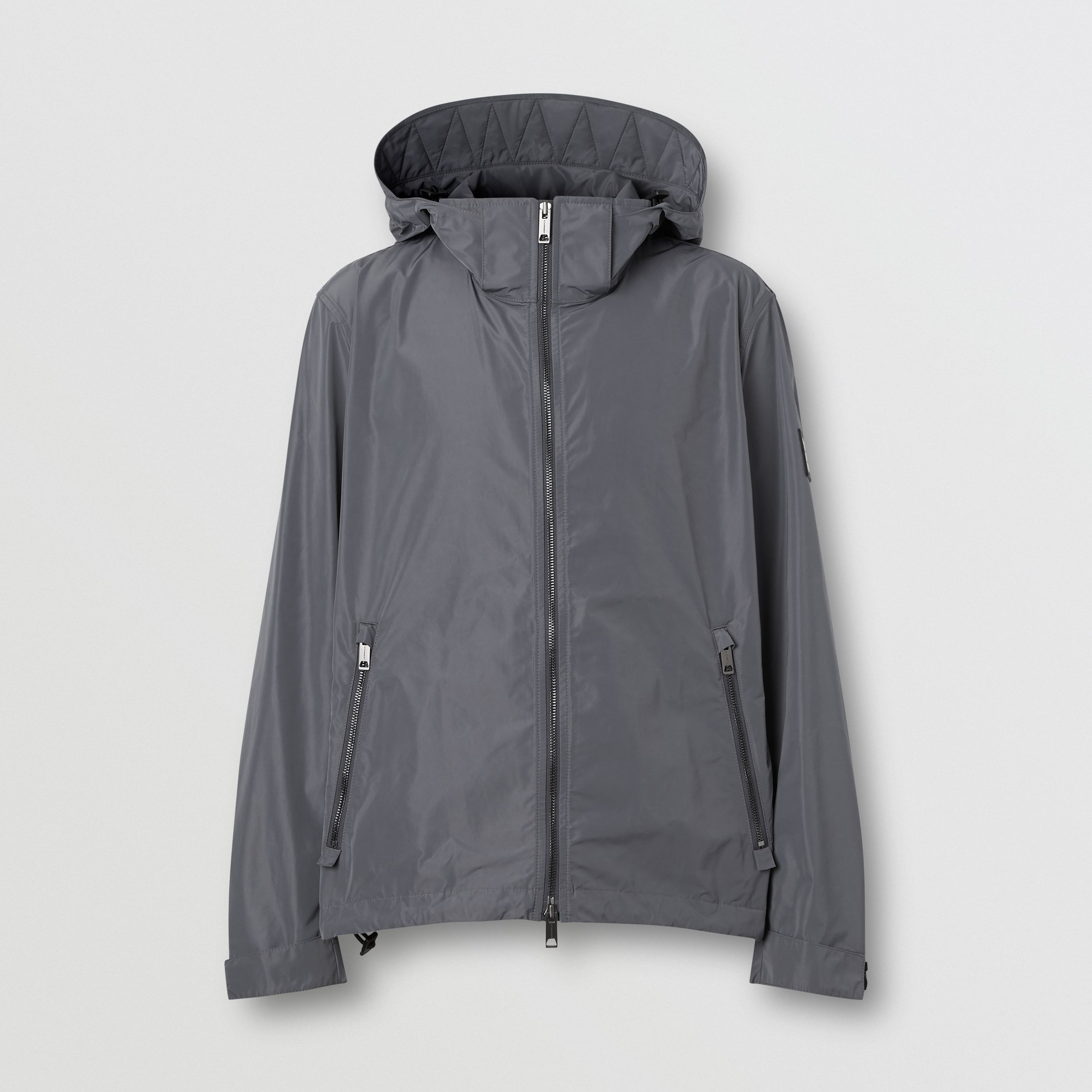 Packaway Hood Shape-memory Taffeta Jacket in Steel Grey - Men | Burberry - 4