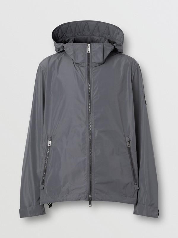 Packaway Hood Shape-memory Taffeta Jacket in Steel Grey - Men | Burberry United States - cell image 3