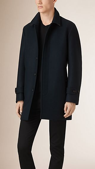 Technical Virgin Wool Car Coat