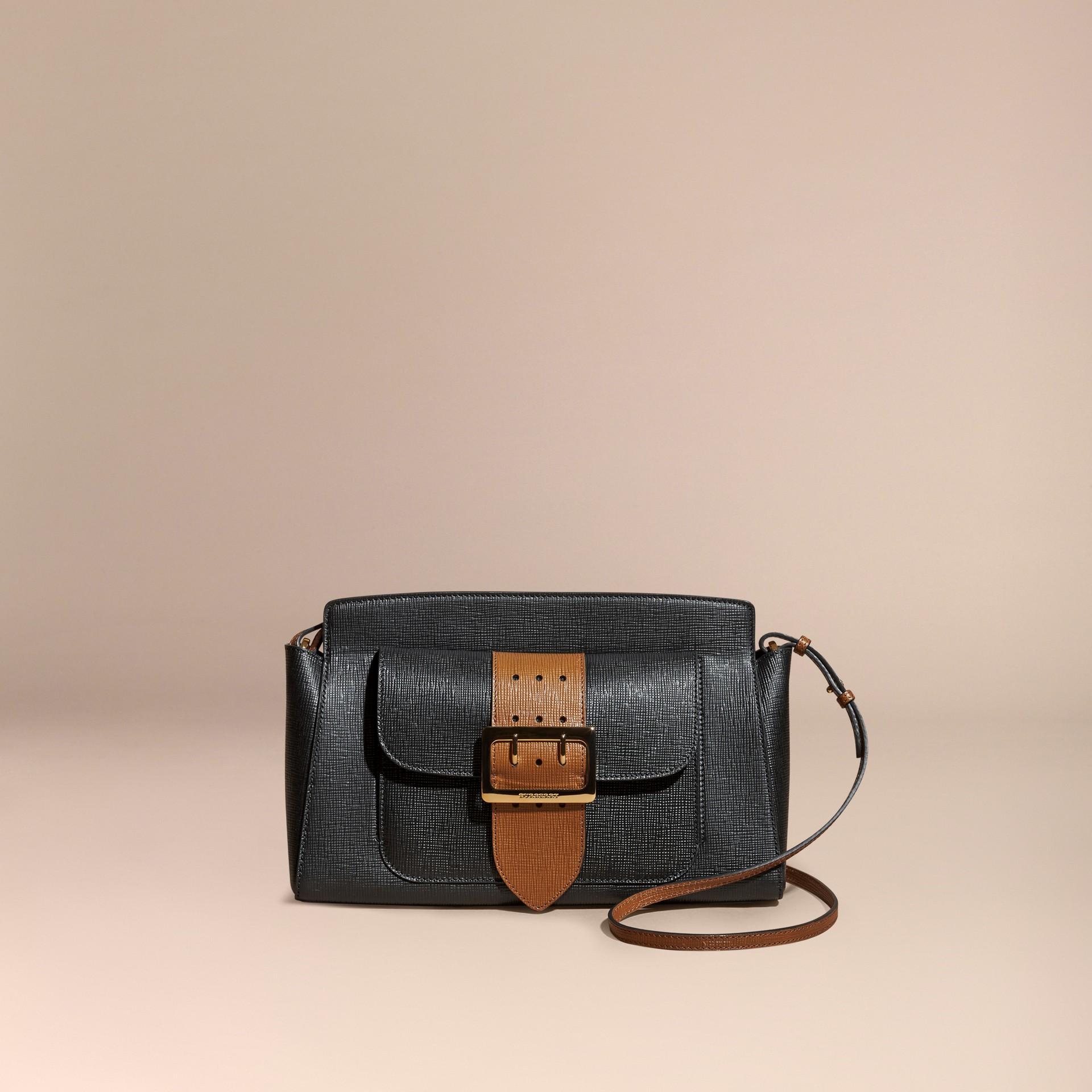 Черный Сумка-клатч Saddle из текстурной кожи - изображение 9