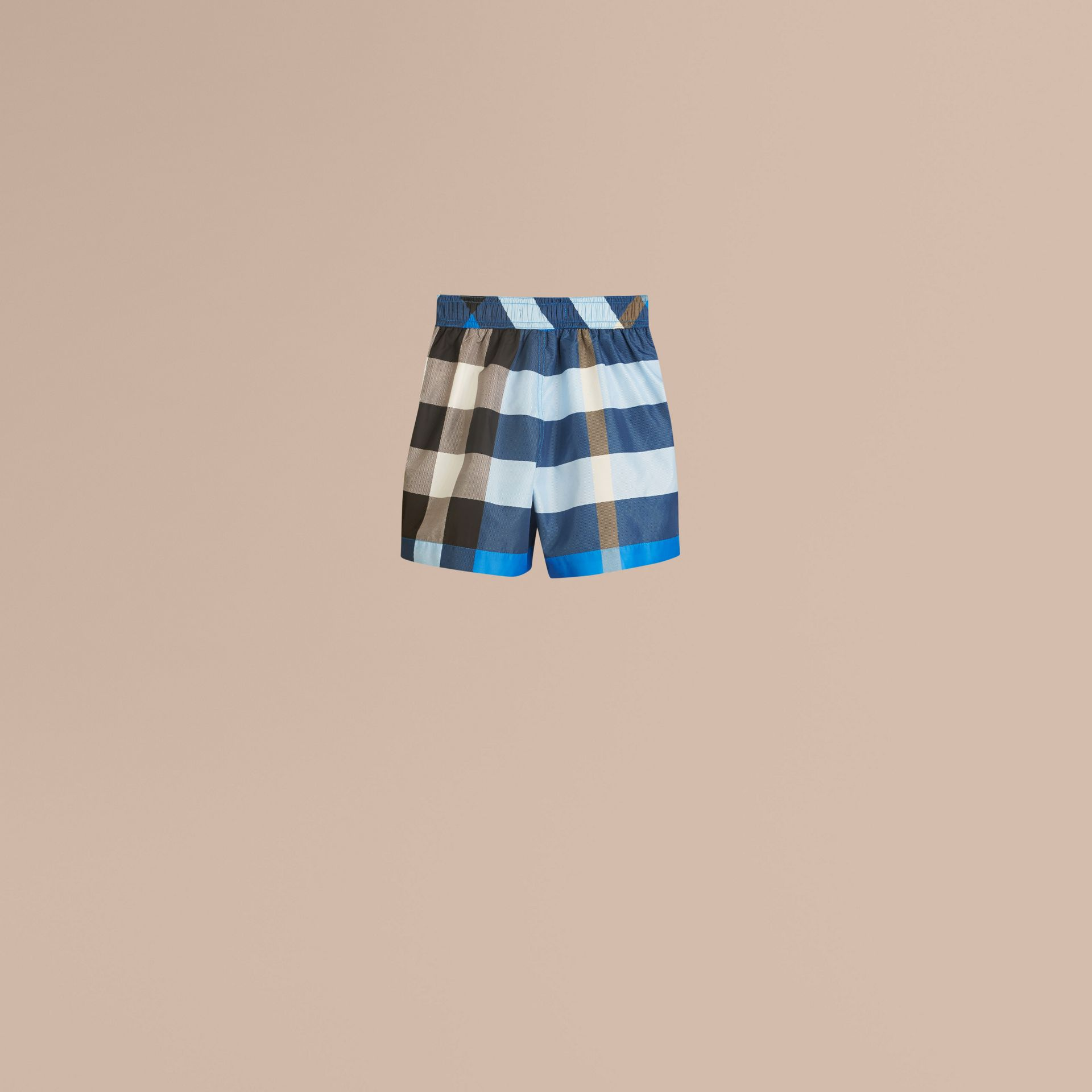 Cerulean blue Check Swim Shorts Cerulean Blue - gallery image 3