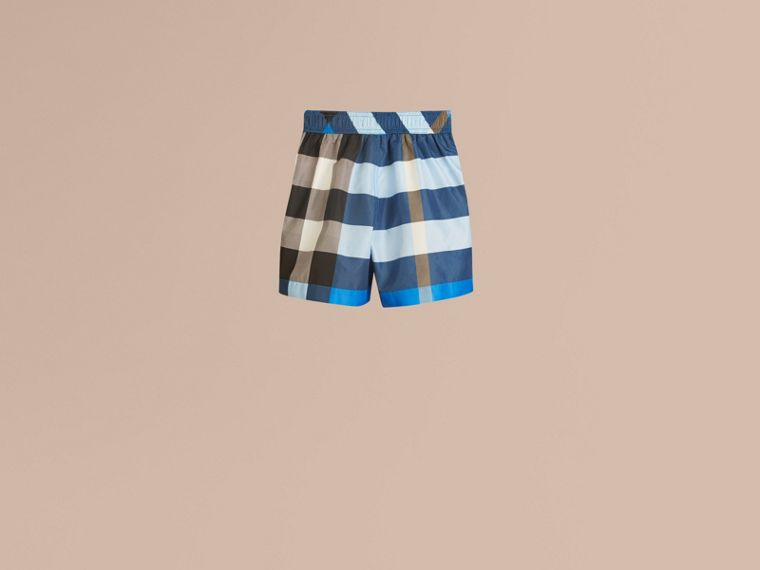 Cerulean blue Check Swim Shorts Cerulean Blue - cell image 2
