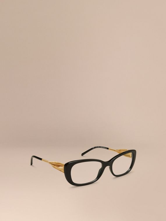 Gabardine Collection Oval Optical Frames Black
