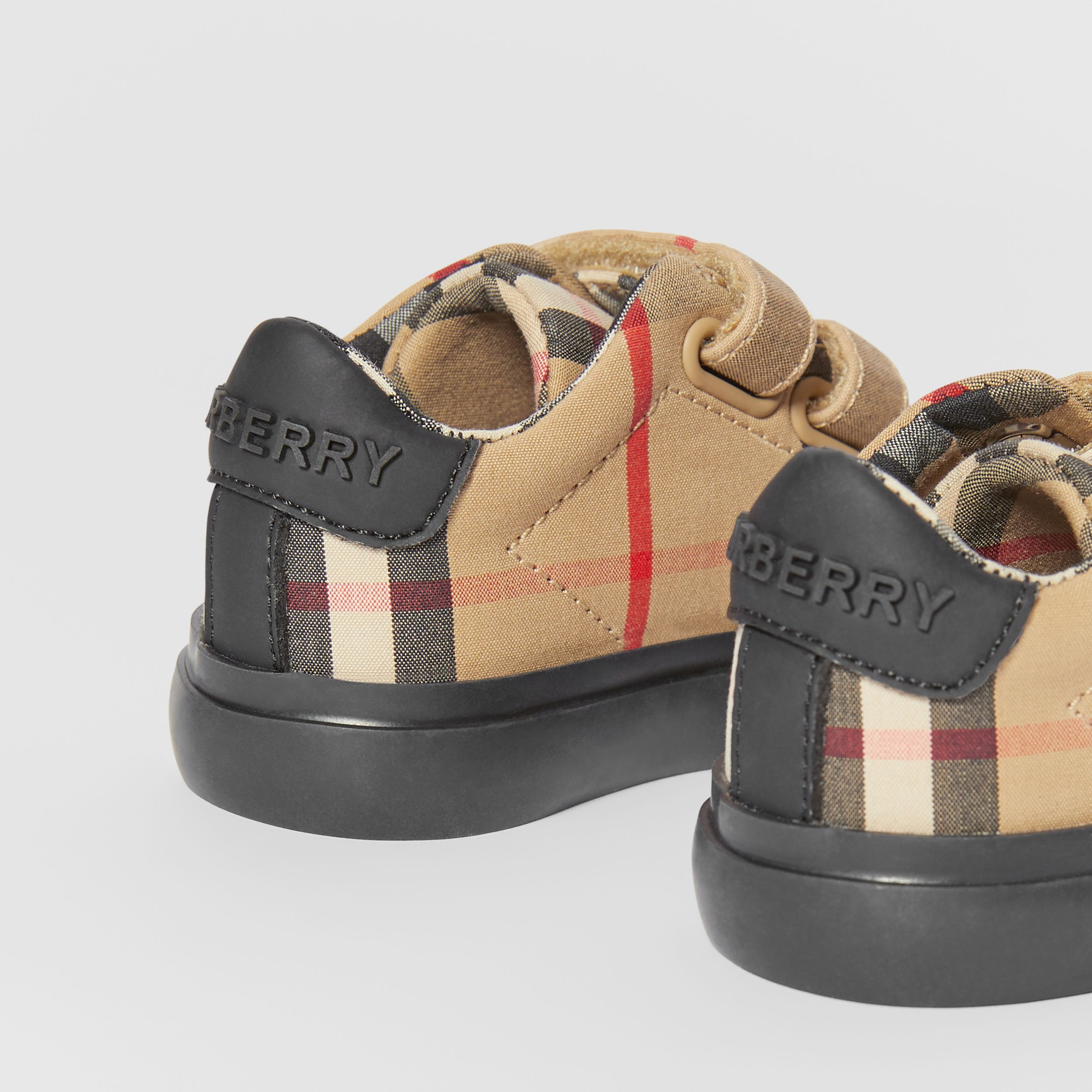 Vintage Check Cotton Sneakers in Archive Beige/black - Children | Burberry Hong Kong S.A.R. - 2