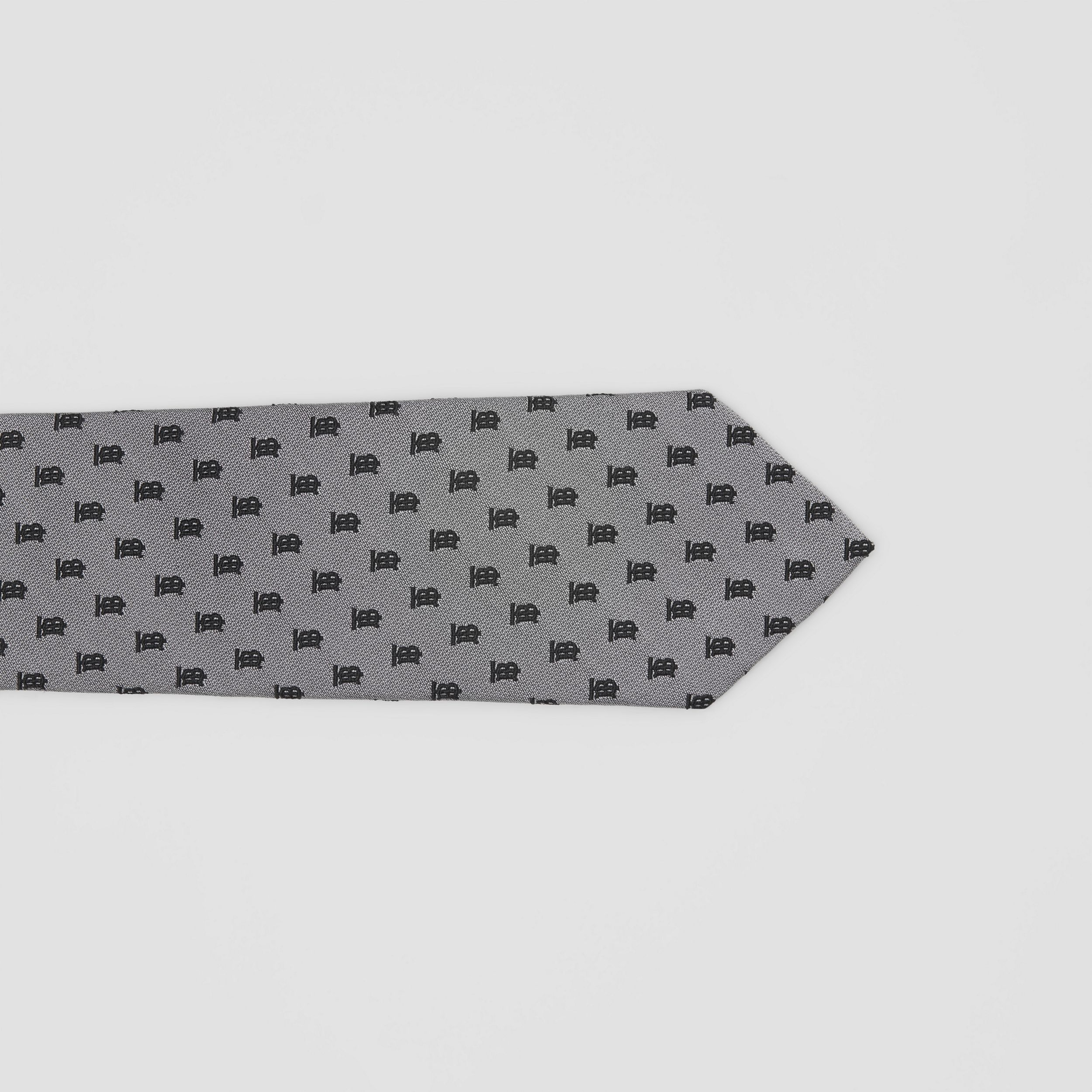 Classic Cut Monogram Silk Jacquard Tie in Mid Grey - Men | Burberry - 2