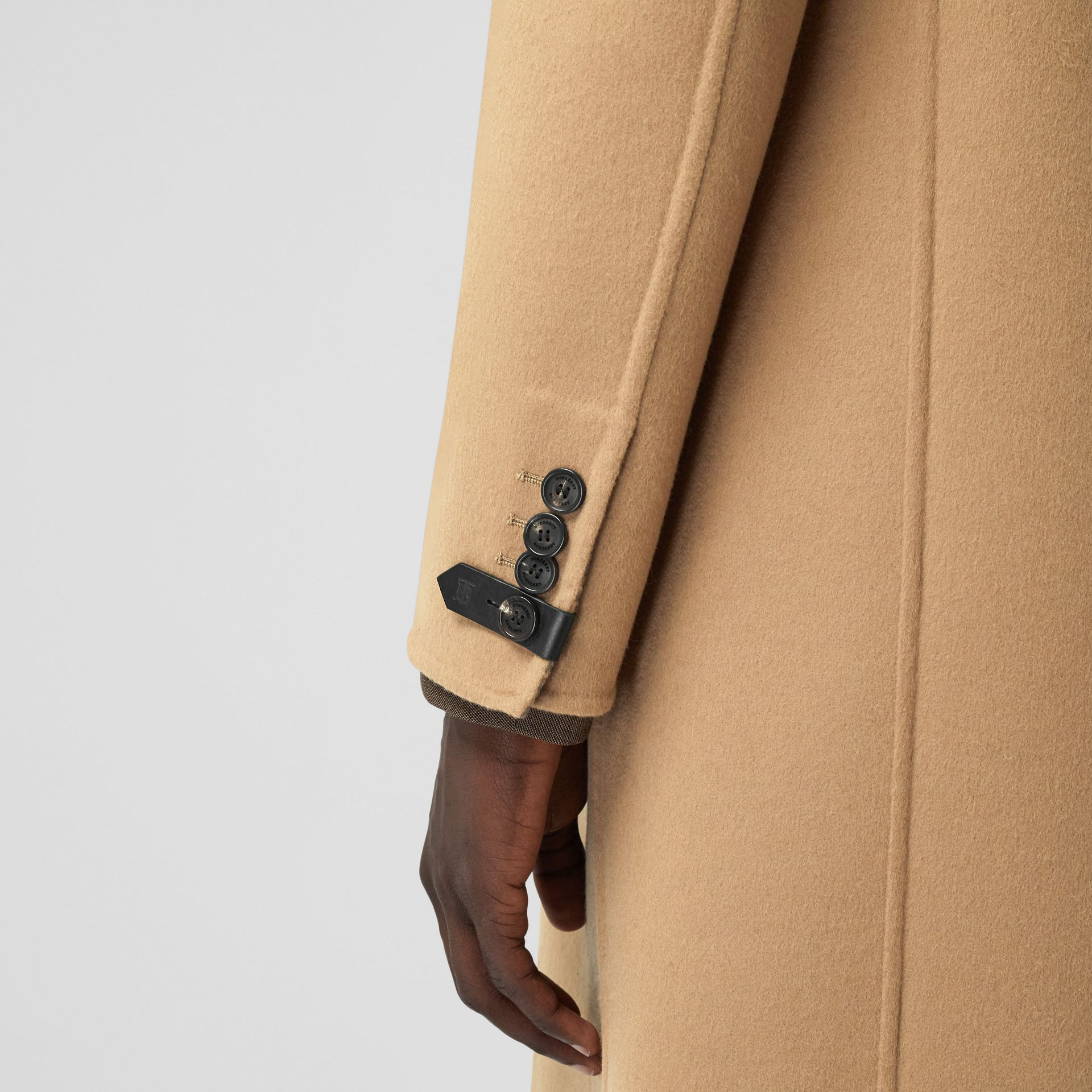 Double-faced Wool Tailored Coat in Soft Fawn/mid Grey Melange - Men | Burberry - gallery image 5